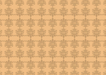 illustraition: Vector illustraition of brown  retro abstract floral Pattern background