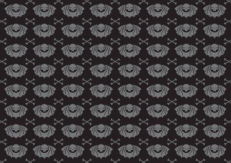 illustraition: Vector illustraition of skulls abstract background.