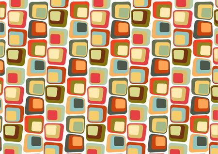 Illustraition Vecteur de style r�tro Abstract background compos�s de carr�s de Candy