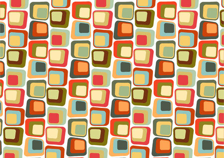 illustraition: Vector illustraition of  Retro styled Abstract  background made of  Candy Squares