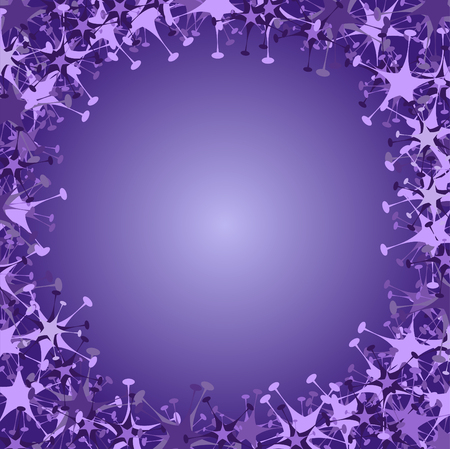 Vector illustration of violet frame made  of funky  stars  shape. Beautiful winter background. Stock Vector - 3943826