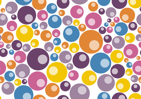 Vector illustration of retro  pattern  background  made up of many circle shapes.  Stock Vector - 3943833