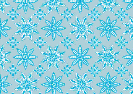 Vector illustration of  Blue snowflake pattern . Winter season  design element that can be used as background  Stock Vector - 3955088
