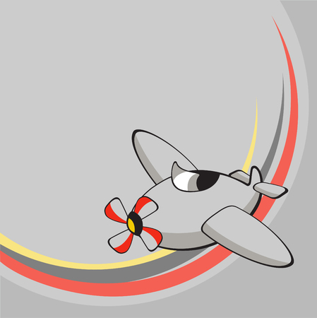 Vector illustration of  Transport Cartoon  . Little funny airplane.  Vector