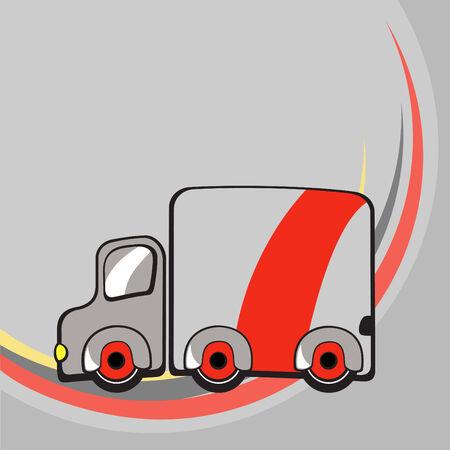 Vector illustration of  Transport Cartoon  . Little funny truck.