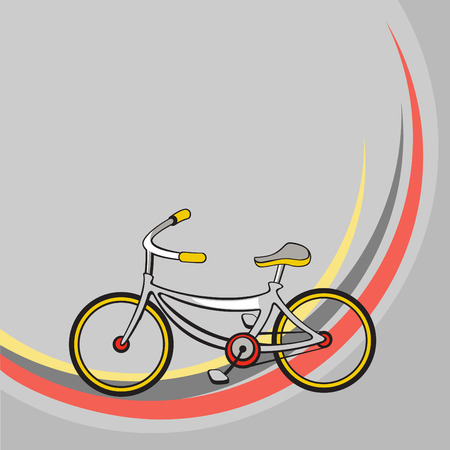 Vector illustration of  Transport Cartoon  . Little funny bicycle. Vector