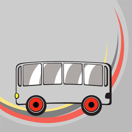 Vector illustration of  Transport Cartoon  . Little funny bus. Stock Vector - 3959440