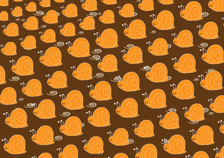 slow motion: Vector illustration of snail pattern. Retro abstract Background.