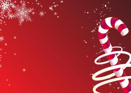 Vector illustration de No�l de fond. Comprend des bonbons et des flocons de neige.