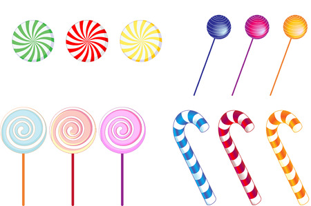 canes: Vector illustration of   some popular english sweetscandy Illustration