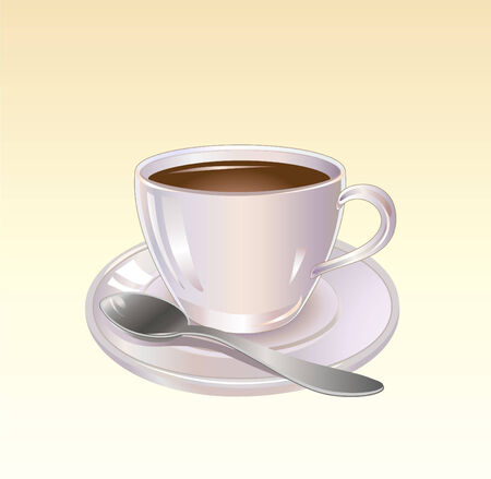Vector illustration of Detailed Coffee or Tea cup graphic Vector