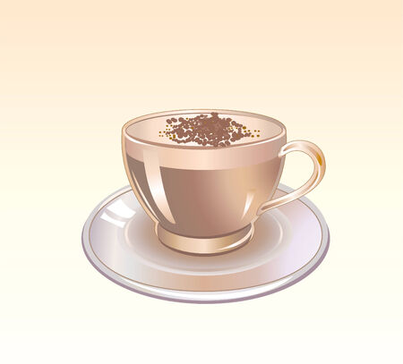 Vector illustration of Detailed Coffee cup graphic Vector