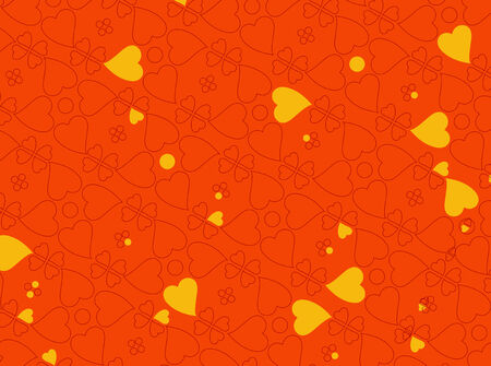 Vector illustration of heart motifs for valentine day cards or anything else Vector