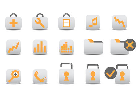 Vector illustration of different Professional icons. You canuse it for your website, application, or presentation Stock Vector - 4037304