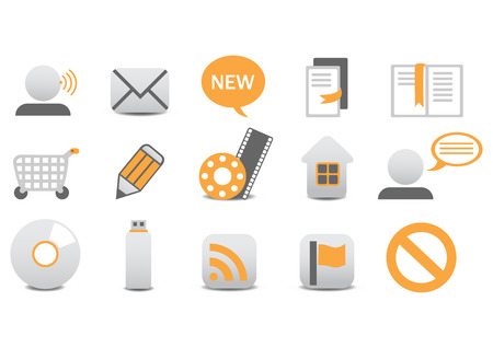 Vector illustration of different Professional icons. You can use it for your website, application, or presentation Stock Vector - 4037307