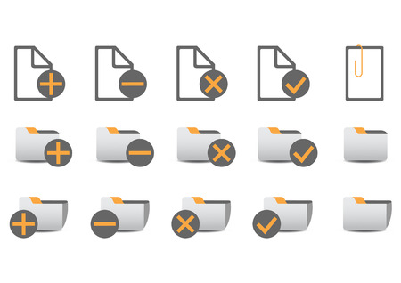 Vector illustration of different database managment icons. You can use it for your website, application, or presentation Stock Vector - 4037297