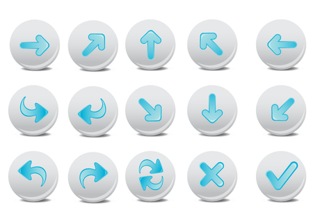 application recycle: Vector illustration of different arrow buttons. You can use it for your website, application, or presentation