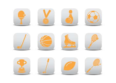 combative: Vector illustration of  icon set or design elements relating to sports