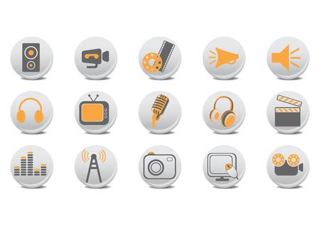 Vector illustration de la vid�o et audio boutons. Vous pouvez l'utiliser pour votre site web, l'application ou de la pr�sentation.