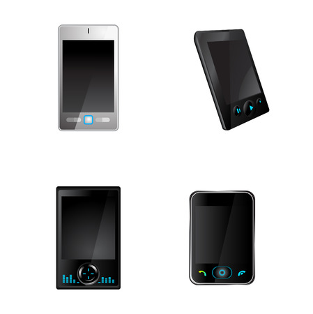 gsm phone: Vector illustration of mobile communication device icons.