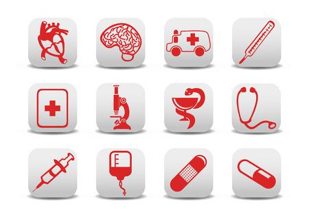 you can: Ilustraci�n vectorial de la medicina iconos. Usted puede utilizarlo para su sitio web, solicitud o presentaci�n Vectores