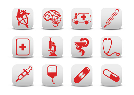 infusion: Vector illustration of medicine icons .You can use it for your website, application or presentation