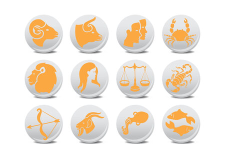 Vector illustration of zodiac buttons .You can use it for your website, application or presentation Vector
