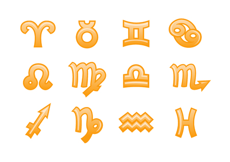 Vector illustration of zodiac signs.You can use it for your website, application or presentation Vector