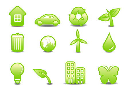 Vector illustration of ecological signs .You can use it for your website, application or presentation Vector
