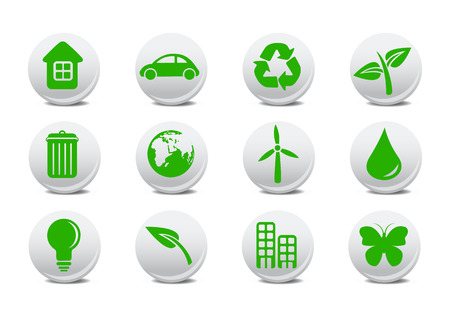 Vector illustration of ecological icons .You can use it for your website, application or presentation Stock Vector - 4056009