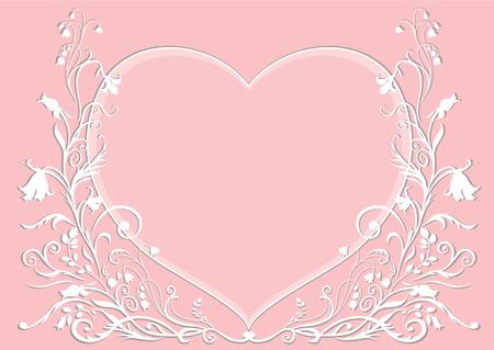 Vector Illuctration floral frame. Design des �l�ments de d�coration d'ornement. Bon pour la Saint Valentin et la carte d'invitation de mariage Illustration