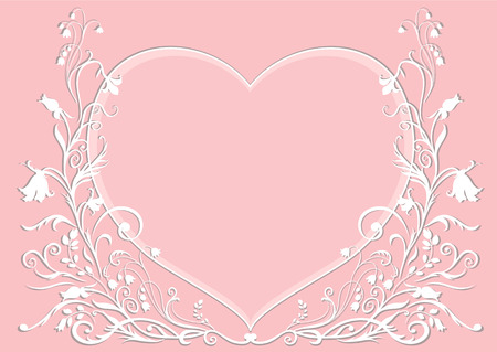 Vector Illuctration of floral frame. Design elements of  Decorative ornament. Good for Valentines Day card and Wedding invitation Vector