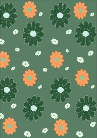 illustraition: Vector illustraition of retro abstract floral  Pattern background