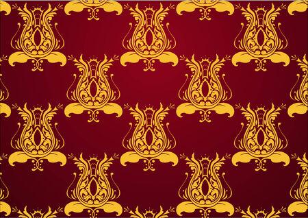 illustraition: Vector illustraition of retro abstract Swirl Pattern background