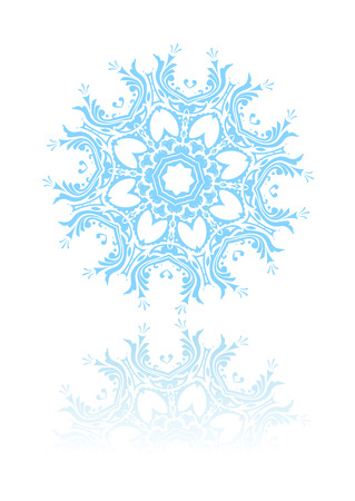 Vector illustration of beautiful snowflake. Suitable for winter greeting cards. Stock Vector - 4112971