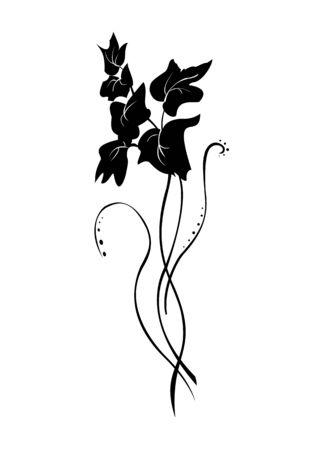 illustraition: Vector illustraition of retro abstract floral swirl element