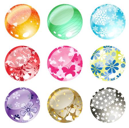 Vector illustration of decorative balls set.  Stock Vector - 4177304