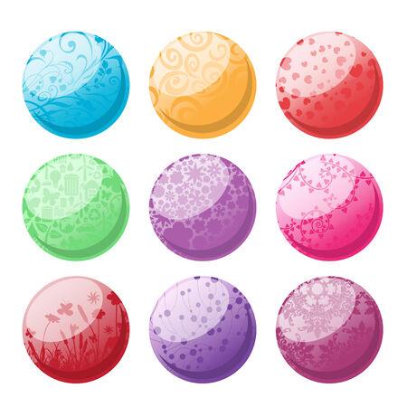 Vector illustration of decorative balls set.  Stock Vector - 4177307