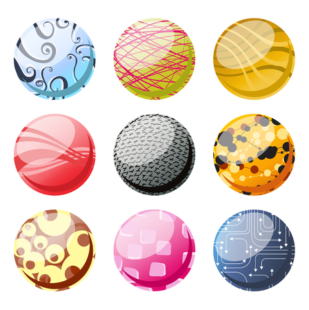 Vector illustration of the beautifull decoration balls set. Vector