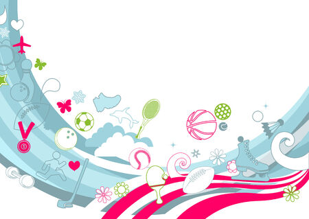 Vector illustration of  retro funky Background Vector