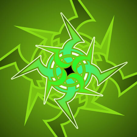 Vector illustration of celtic  ornament abstract pattern on the green background Stock Vector - 4564851