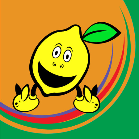 Vector illustration of funny and cute lemon Vector