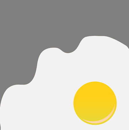 Vector illustration of funky style background with cool Fried Egg Vector