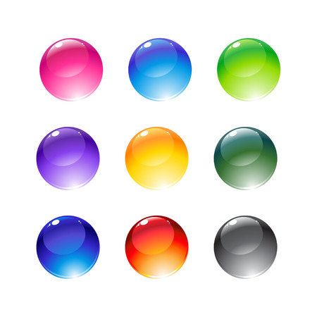 Vector illustration of the beautiful decoration balls set. Vector