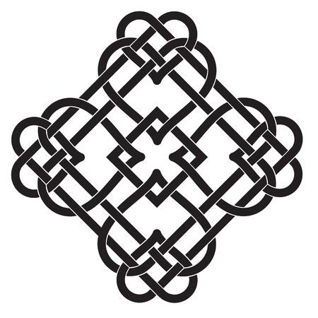 結び目: ケルト族の結び目のモチーフのベクトル イラスト  イラスト・ベクター素材