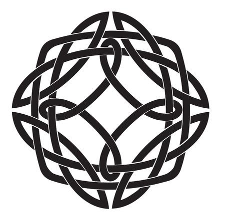 Vector illustratie van de Keltische knoop motief Vector Illustratie