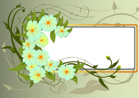 Vector illustraition of funky Abstract floral border