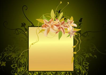 Vector illustraition of elegant floral frame