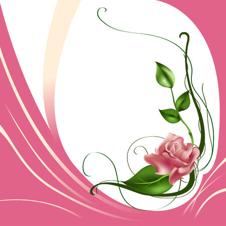 Vector illustraition of elegant beautiful rose Vector