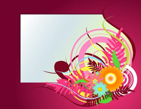 Vector illustraition of elegant floral frame Stock Vector - 4703622